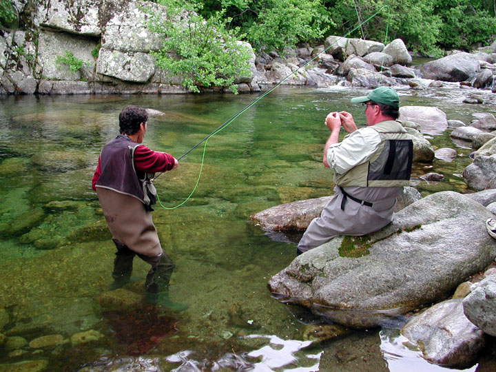 Stalking the zebras fly fishing for trout in the south of for Fishing in france